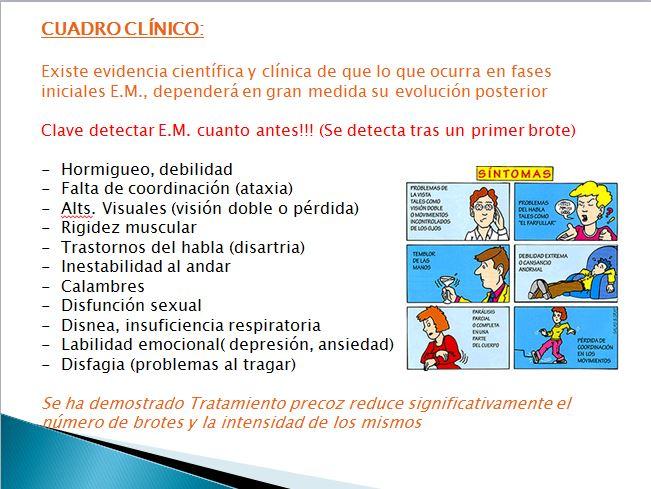 cuadro clínico esclerosis
