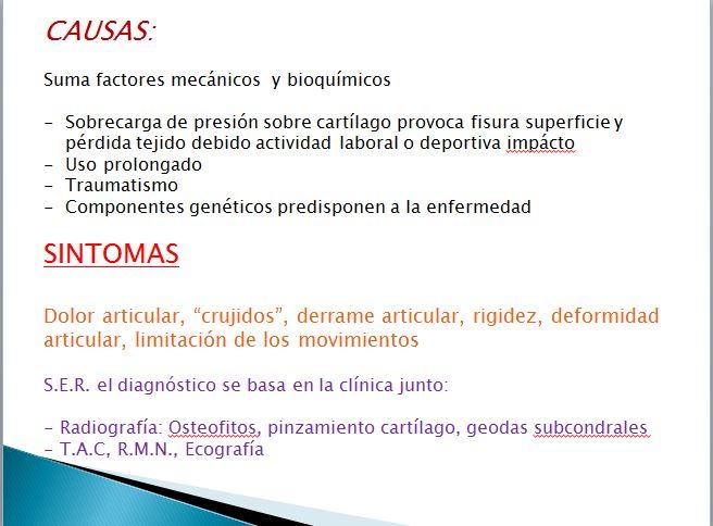 casusas de artrosis