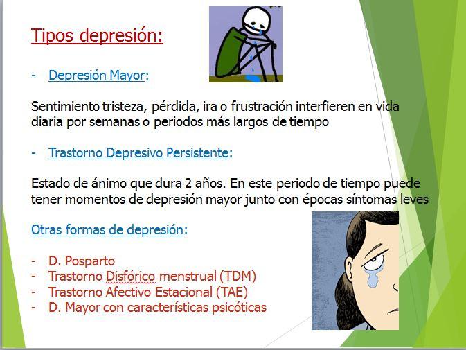 tipos depresión